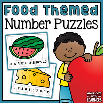 Food Number Puzzles - Skip Counting