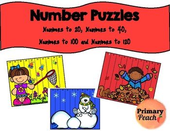 Number Puzzles!  Four Levels!  Numbers to 20, 40, 100 and 120!