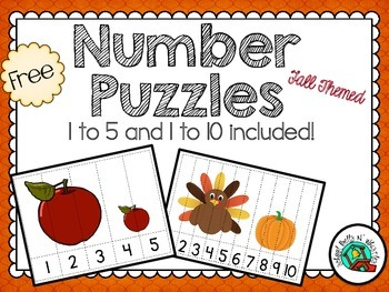 Number Puzzles/ Free / Numbers 1 to 5 and 1 to 10