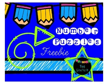 Number Puzzles Freebie: Cut, Paste, & Color