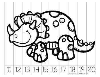 Number Puzzles Freebie: Cut, Paste, & Color