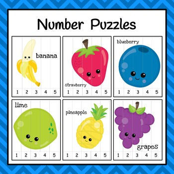 Number Puzzles: Fruit Number Puzzles