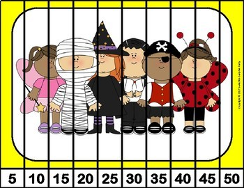 Number Puzzles - Halloween Theme