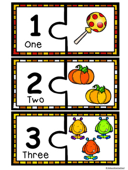 Number Puzzles-Halloween Edition