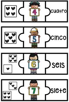 Spanish Number Puzzles