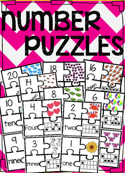 Number Puzzles Math Center 1-20
