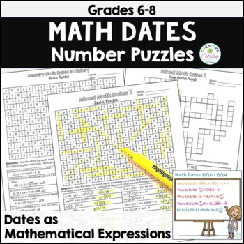 Number Puzzles - Mixed Math Dates