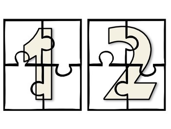 Number Puzzles (Numbers 0-20) Great for Math Centers!
