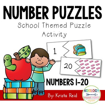 Number Puzzles - Numbers 1-20 - Back To School