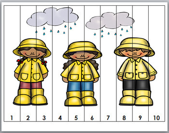 Number Puzzles 1-20 - Spring Math