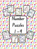 Number Puzzles (Numbers 1 - 9 Included)