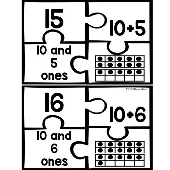 Number Puzzles (Numbers 11-20)