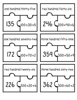 Number Puzzles: Numbers in Word Form, Standard Form, and Expanded Form FREE