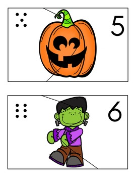 Number Puzzles - October Theme