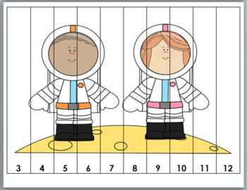 Number Puzzles - Outer Space Math