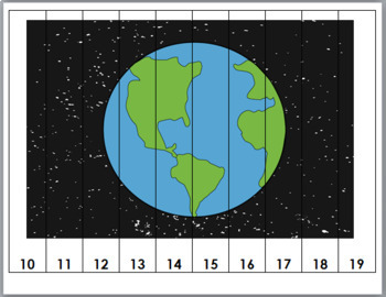 Number Puzzles 1-20 - Outer Space Math