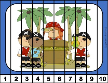 Number Puzzles - Pirate Theme