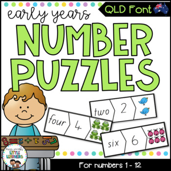 QLD Beginners Font Number Puzzles