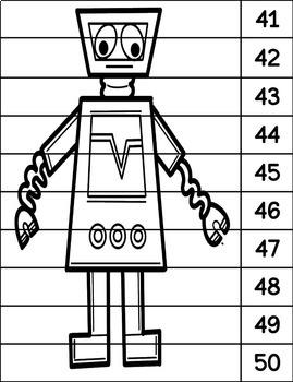Robot Number Strip Puzzles