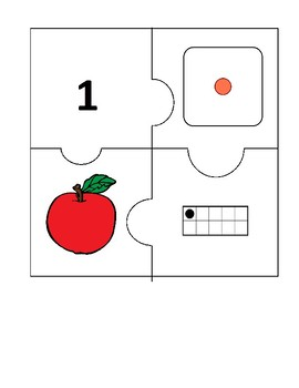 Number Puzzles Set 3 (Numbers 1 to 20)