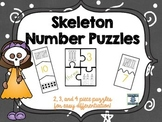 Number Puzzles--Skeleton and Bones Edition