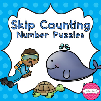 Number Puzzles Skip Counting Under The Sea Theme