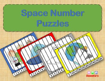 Number Puzzles - Space Theme