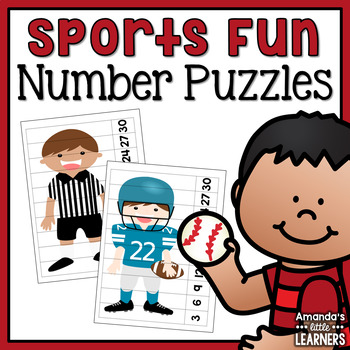 Sports Number Puzzles - Skip Counting