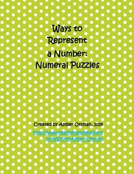 Number Puzzles Tens Up to 100: Ways to Represent a Number