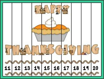 Number Puzzles ~ Thanksgiving