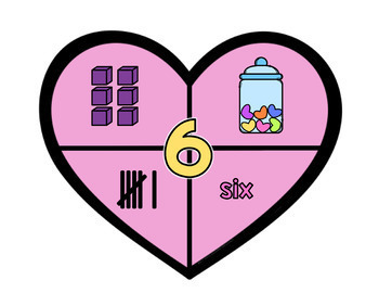 Number Puzzles (1-10) - Valentine's Day