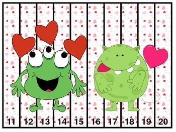 Number Puzzles: Valentine's Day Pre-K/K