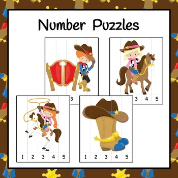 Number Puzzles: Wild West Cowboy Number Puzzles