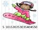 Number Puzzles {Winter Sports}; CCLS; PreK, Kindergarten, 1st