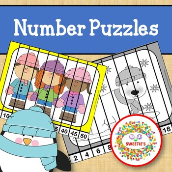Number Puzzles - Winter Theme