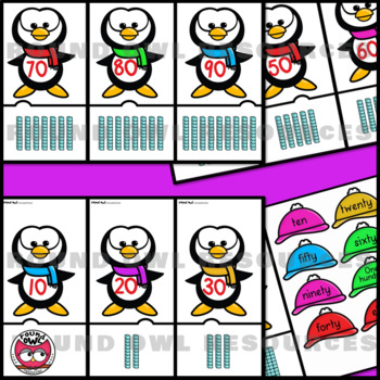 Number Puzzles and displays 10 - 100. Penguin Parade