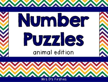 Number Puzzles {animal edition}