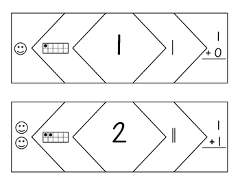 Number Puzzles for numbers 1 - 20