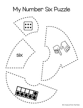 Number Puzzles for numerals 1 -20