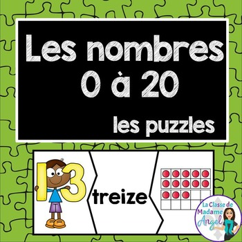 Number Puzzles in French: Les nombres 0 à 20