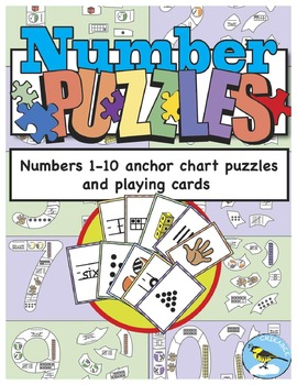 Number Puzzles: numbers 1-10 anchor chart puzzles and play