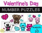 Number Puzzles to 20 - Valentine's Day {10 Puzzles} February #Fisforfebruary