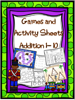 Addition up to 10 Games and Activity Worksheets
