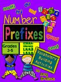 Number & Quantity Prefixes Vocabulary Activities