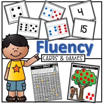 Number, Quantity Total and Difference Fluency Cards #christmasinjuly
