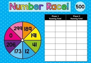 Number Race Addition game