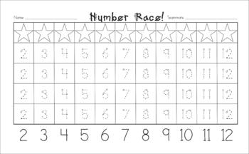 Number Race Dice Game for Kindergarten (Decompose Numbers K.OA.3)