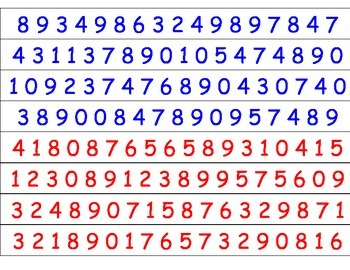 Number Race - Identifying Numbers 0-9