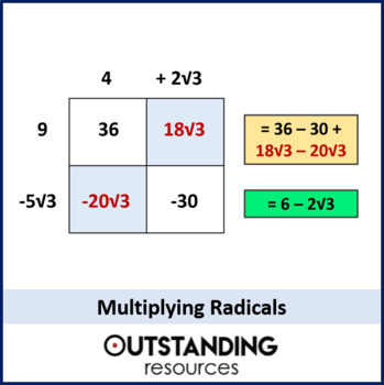 Number: Radicals 3 - Multiplying (+ resources)