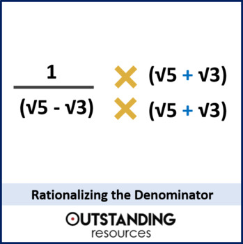 Radicals 4 Rationalizing The Denominator Worksheet Tpt